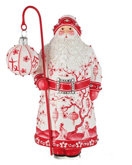 Stroke of Midnight Santa Ornament