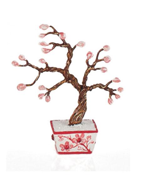 Mini Cherry Blossom Bonsai Sculpture