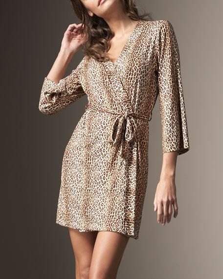Leopard-Print Robe