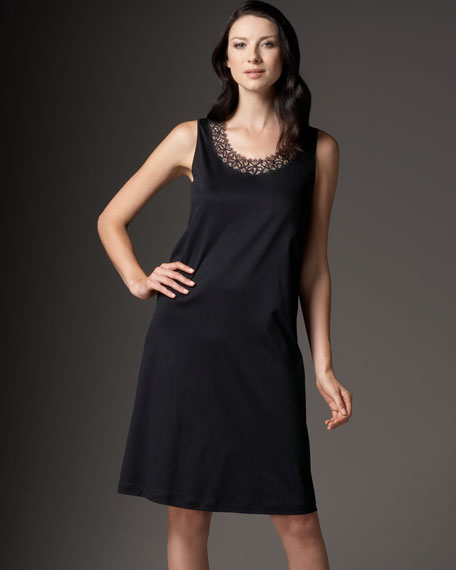 Long Tank Gown, Black