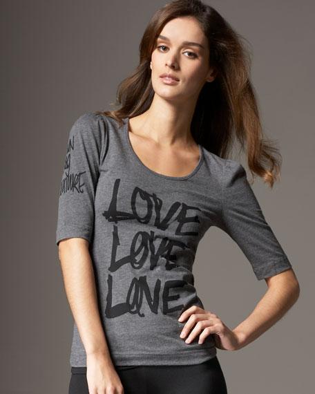 Love Graphic Half-Sleeve Tee