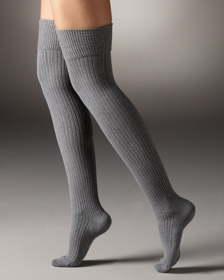 Stringings Ribbed Over-The-Knee Stocking