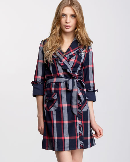 Flannel Ruffle-Trim Robe