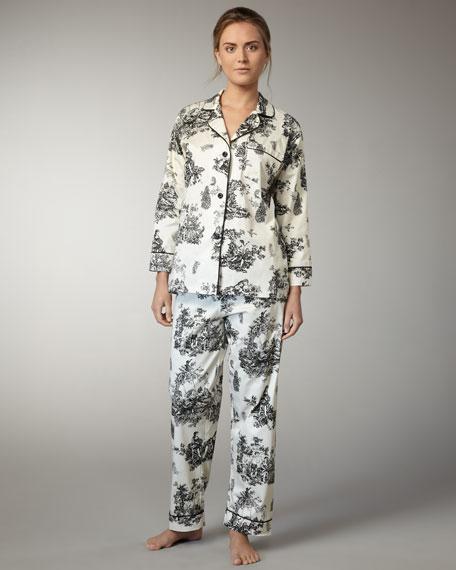 Toile Classic Pajamas, Black