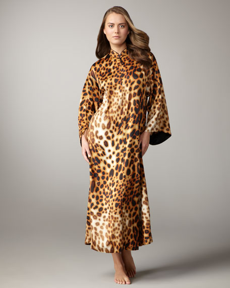 Azuma Leopard-Print Caftan