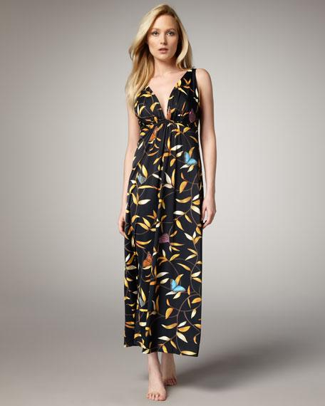 Kohona Floral-Print Gown