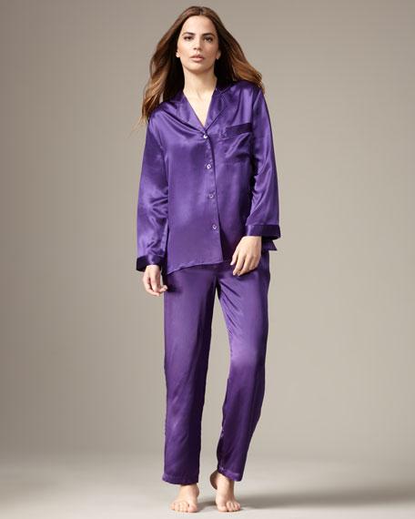 Classic Silk Pajamas, Purple