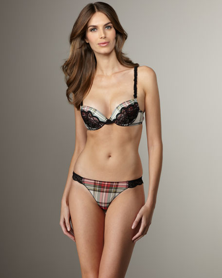 Plaid Underwire Bra