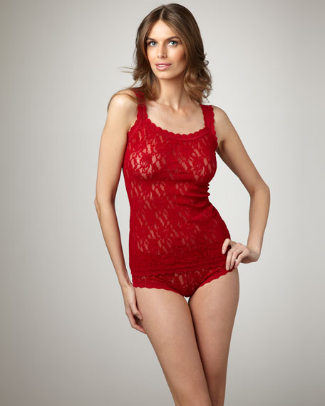 Signature Unlined Lace Camisole, Cayenne