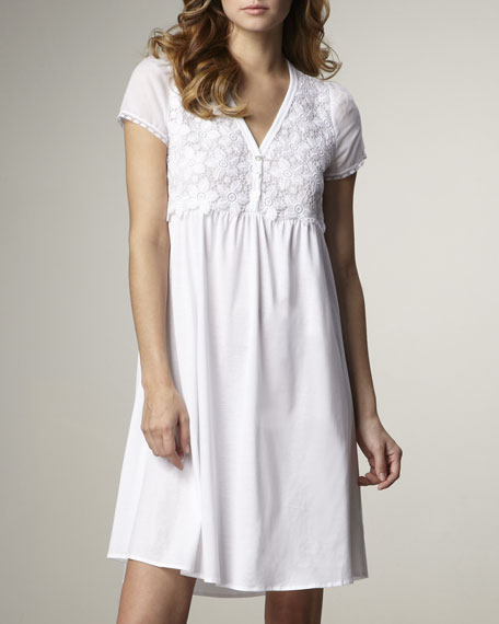 Lily Short-Sleeve Jersey Gown