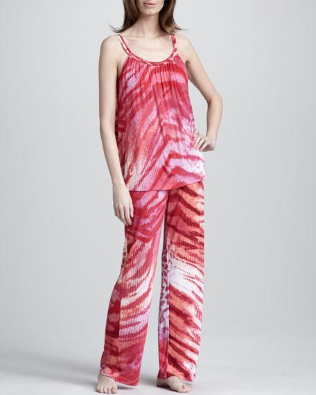 Dara Animal-Print Camisole Pajamas