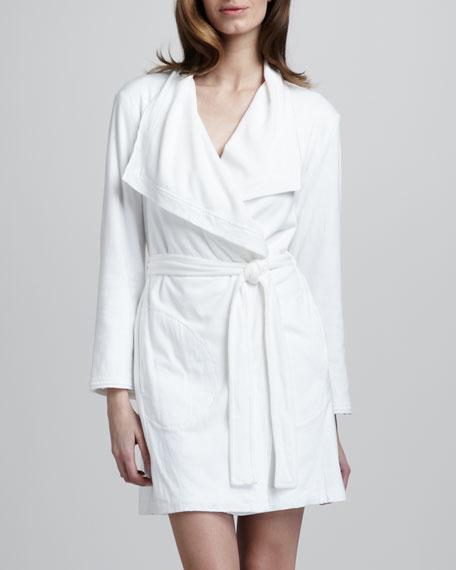 Terry-Lined Pima Robe