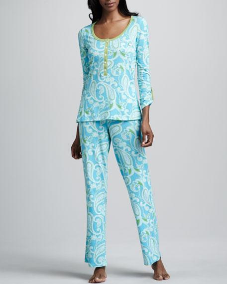 Ocean Paisley Lounge Pajamas