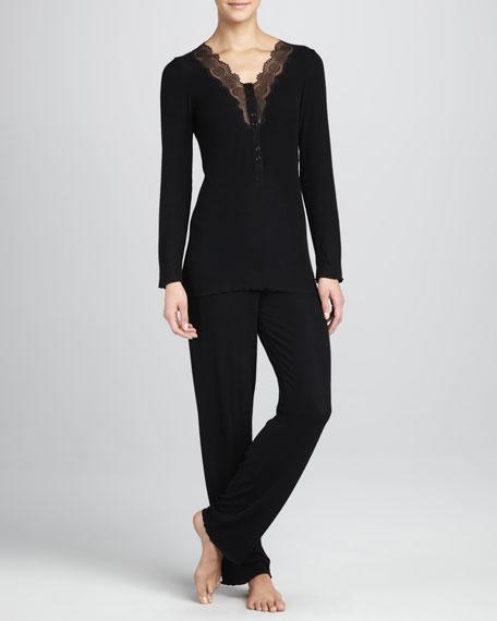 Costina Lace-Trim Pajamas