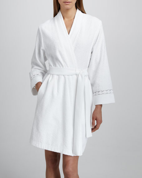 Short Double-Face Terry Robe