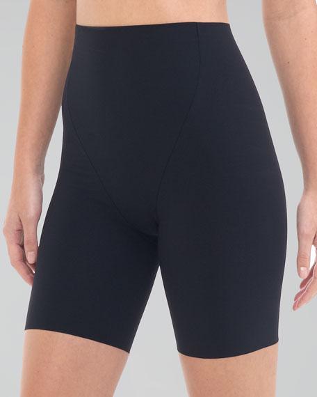 High-Waist Control Shorts, Black