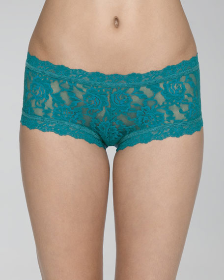 Signature Lace Boyshorts, Dark Teal