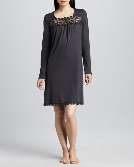 Medea Lace-Trim Gown