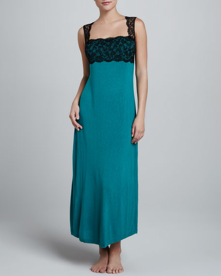Chrysler Party Long Gown, Green