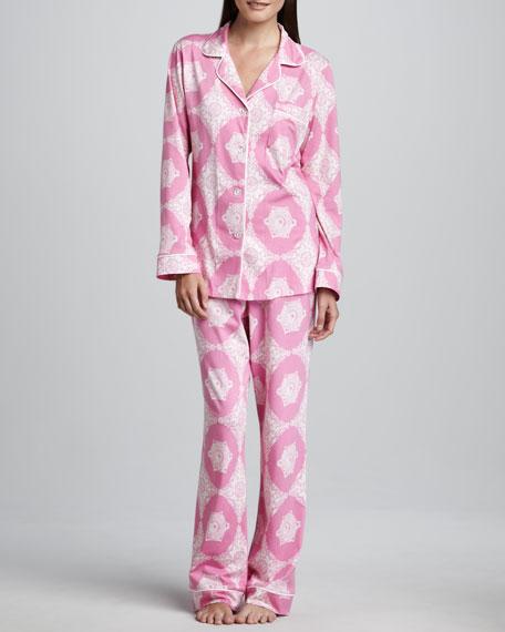 Medallions Classic Pajamas, Pink