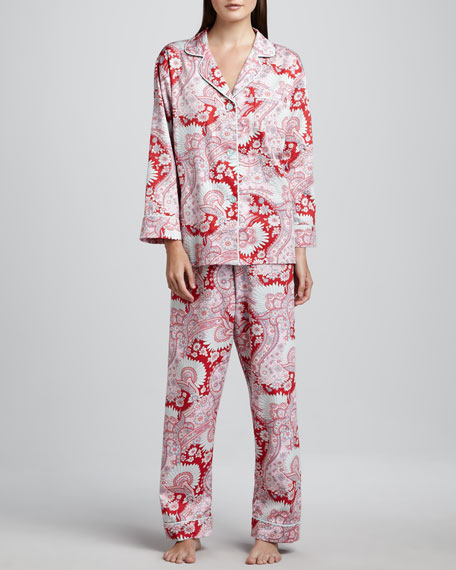 Palm Springs Classic Sateen Pajamas