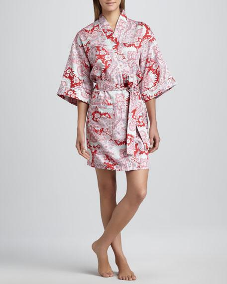 Palm Springs Paisley-Print Kimono Robe