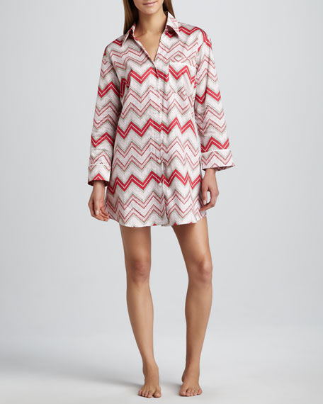 Chevron-Stripe Nightshirt