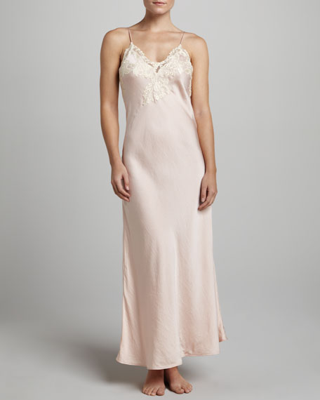 Maison Long Satin Gown, Rosa