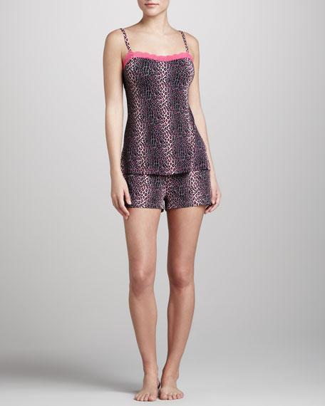 Anouck Leopard-Print Boxer Shorts, Pink