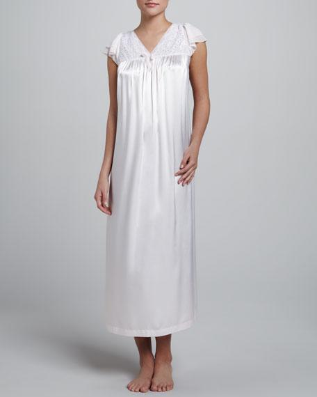 Spring Garden Flutter-Sleeve Gown