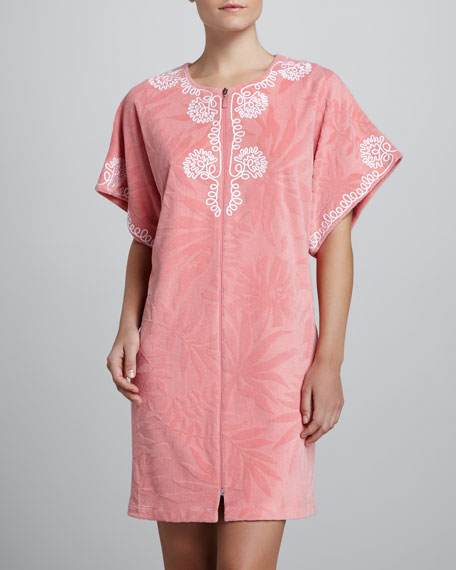 Textured Oasis Short Robe