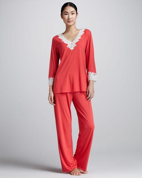 Lhasa Jersey Pajamas, Passion Pink