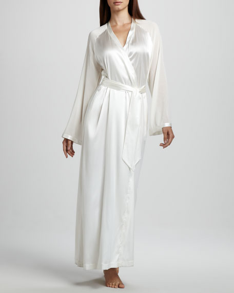 Vestaglie Long Silk Robe, Neutral