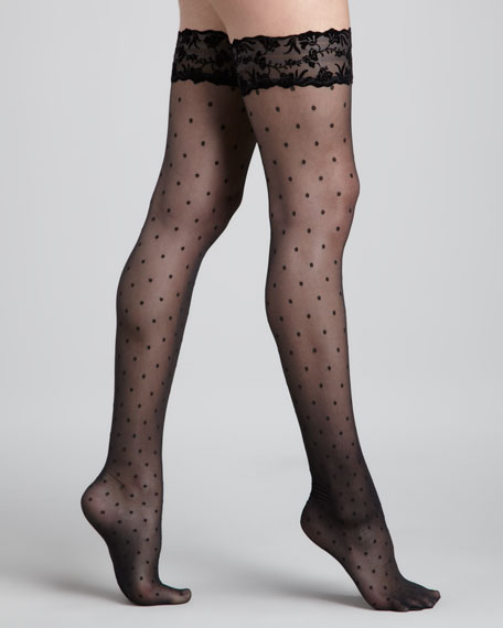 Silver Glam Stay-Up Stockings