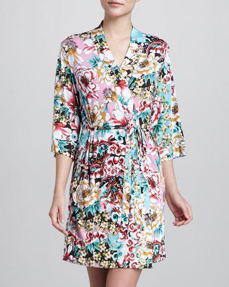 Naadam Floral-Print Wrap Robe