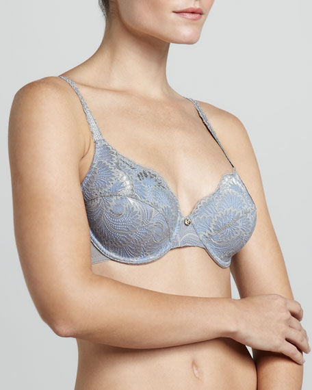 Fatale Full-Fit Underwire Bra, Silver/Waterfront
