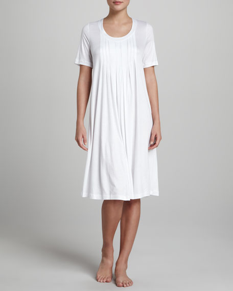 Paula Pleated Gown, White