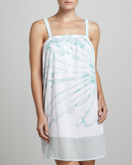 Anabella Sleeveless Butterfly Gown, Sky