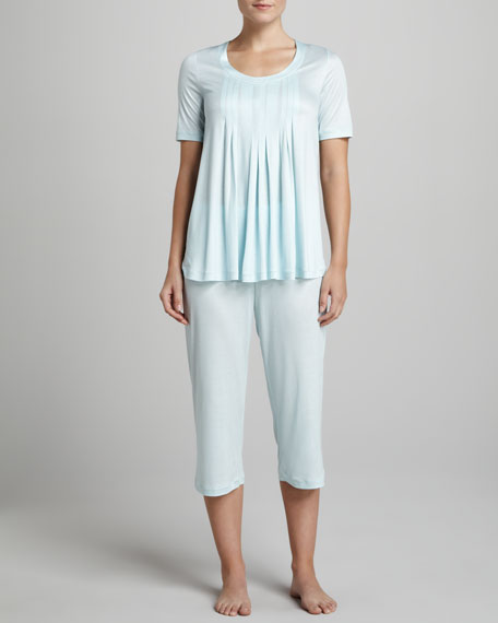 Paula Cropped Pajamas, Sky