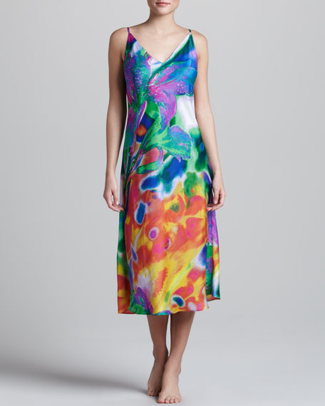Sagala Floral-Print Gown, Long