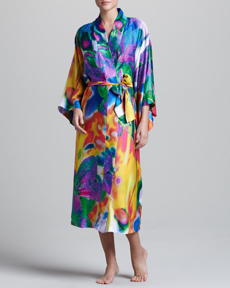 Sagala Floral-Print Robe, Long