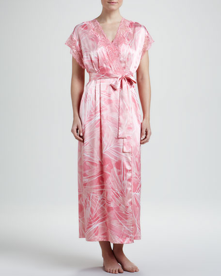 Escape to Tahiti Cap-Sleeve Robe