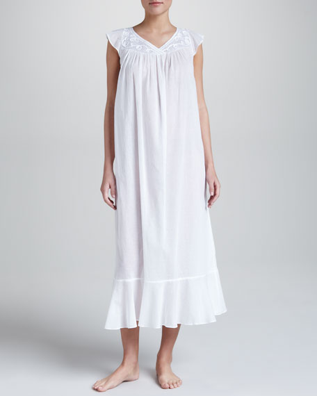 Ethereal Scrolls Cotton Gown