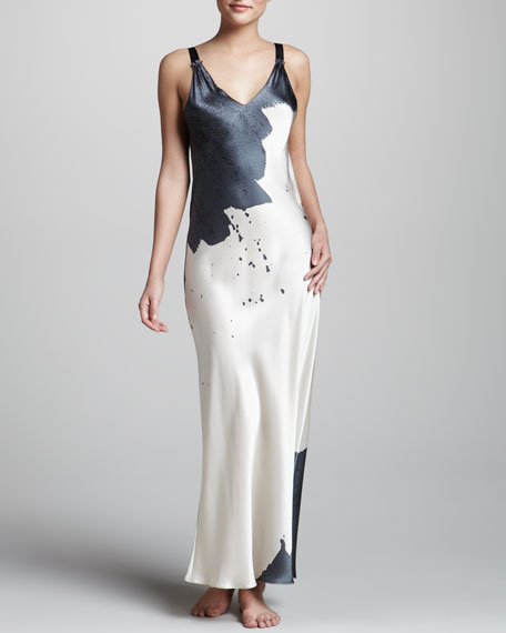 Twilight Two-Tone Silk Gown