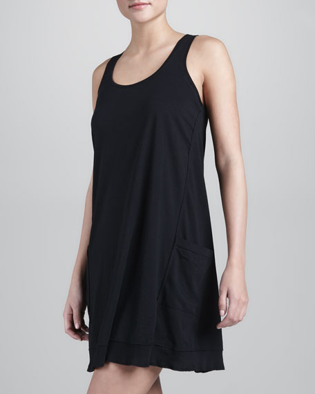 PIMA COTTON CHEMISE- Black