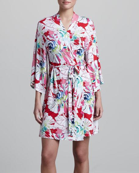 Island Flower Kimono Wrap Robe