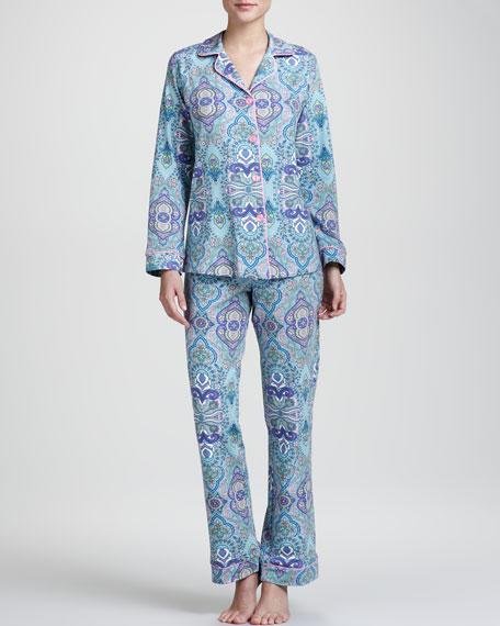 Paisley-Print Classic Pajamas