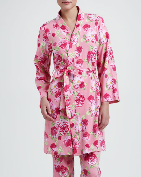 Cabbage Rose Knit Robe