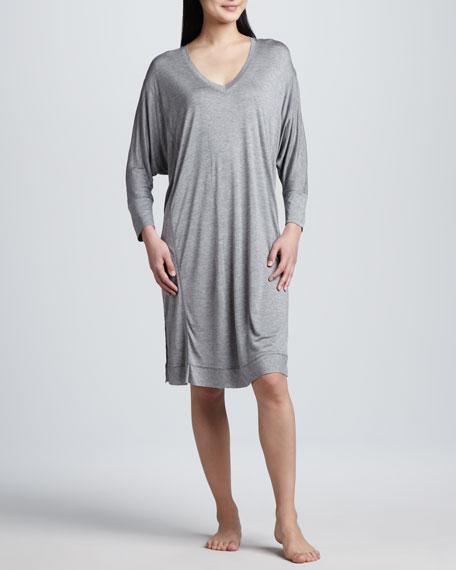 Long-Sleeve Jersey Sleepshirt