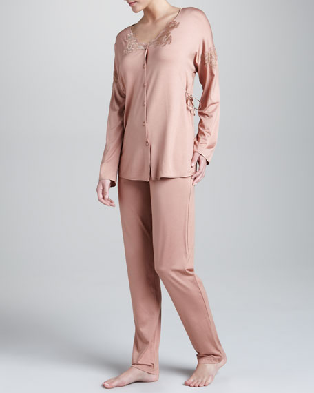 Lace-Trim Pajamas